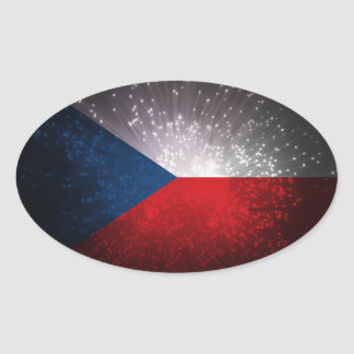 Republika de Česká Pegatina Ovalada