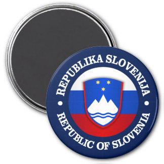 Republika Slovenija 3 Inch Round Magnet