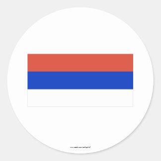 Republika Srpska Flag Classic Round Sticker