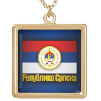 Republika Srpska Gold Plated Necklace