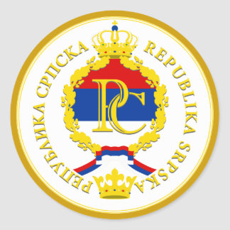 Republika Srpska Classic Round Sticker