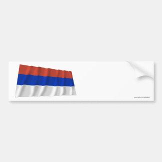 Republika Srpska Waving Flag Car Bumper Sticker