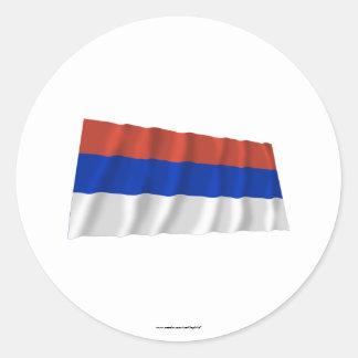Republika Srpska Waving Flag Classic Round Sticker