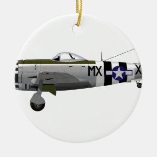 Republilc P-47D Thunderbolt 226671 Double-Sided Ceramic Round Christmas Ornament