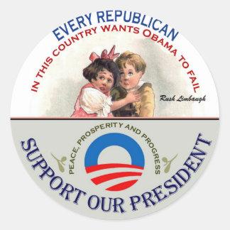 Republincans and Limbaugh Classic Round Sticker