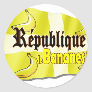 République de Bananes Classic Round Sticker