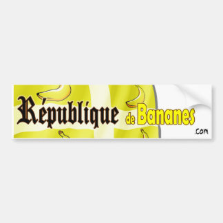 République de Bananes Pegatina Para Auto