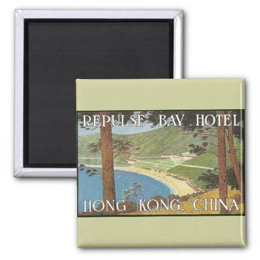Repulse Bay Hotel Hong Kong, China Deco Label Art Magnet