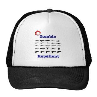 Repulsivo del zombi con el logotipo gorro