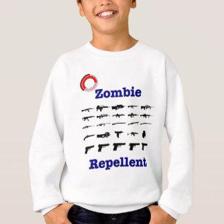 Repulsivo del zombi con el logotipo remeras