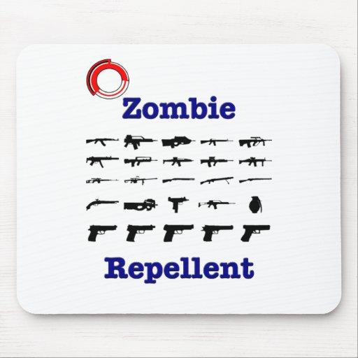 Repulsivo del zombi con el logotipo alfombrilla de ratones