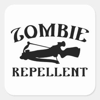 Repulsivo del zombi pegatina cuadrada
