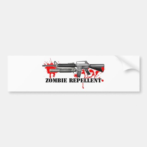 Repulsivo del zombi pegatina de parachoque