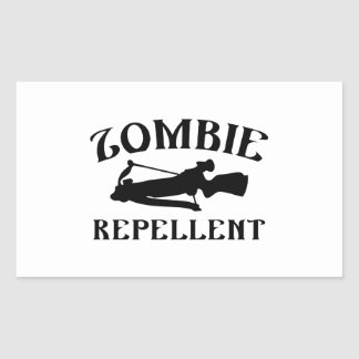 Repulsivo del zombi pegatina rectangular