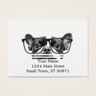 Reputable French Bulldog with Glasses Business Card