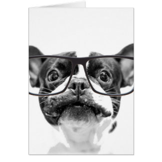 Reputable French Bulldog with Glasses Card