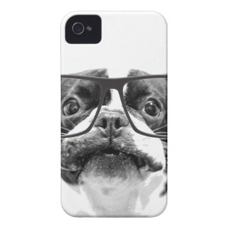 Reputable French Bulldog with Glasses iPhone 4 Cover