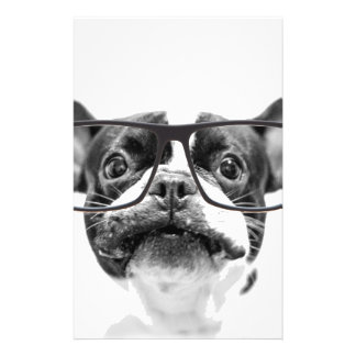 """Reputable French Bulldog with Glasses 5.5"""" X 8.5"""" Flyer"""