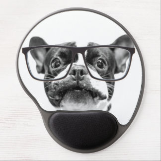 Reputable French Bulldog with Glasses Gel Mouse Pad