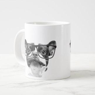 Reputable French Bulldog with Glasses Giant Coffee Mug