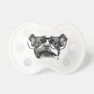 Reputable French Bulldog with Glasses BooginHead Pacifier