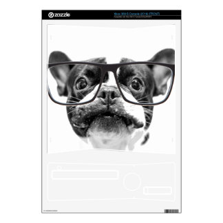 Reputable French Bulldog with Glasses Skin For The Xbox 360 S