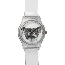 Reputable French Bulldog with Glasses Watch