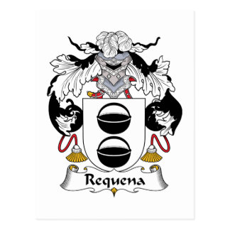 Requena Family Crest Postcard