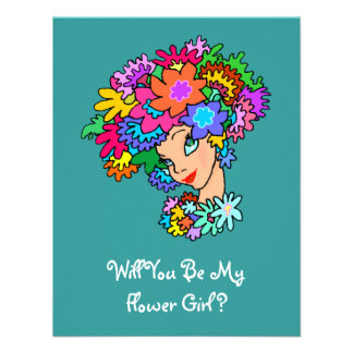 Request Flower Girl In FLOWERS PARTY Invitation