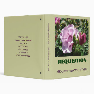 REQUESTION binder Slang Saying Young Rose