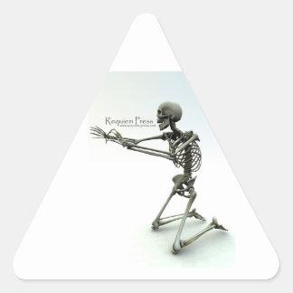 Requiem Press Skeleton Triangle Stickers