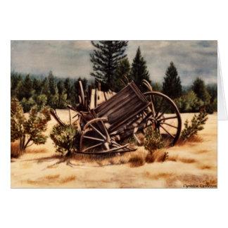 Réquiemes - carro descompuesto viejo tarjeta de felicitación
