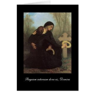 Réquiemes - tarjeta de condolencia católica - Boug
