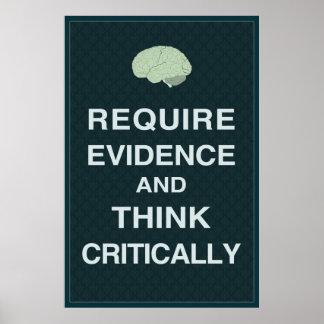 Requiera las pruebas y piense críticamente el post poster