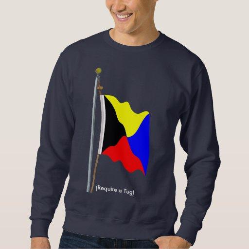 Requiera una camisa de la bandera de señal del