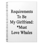 Requirements To Be My Girlfriend Must Love Whales. Spiral Note Book