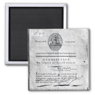 Requisition of the Committee of Public 2 Inch Square Magnet
