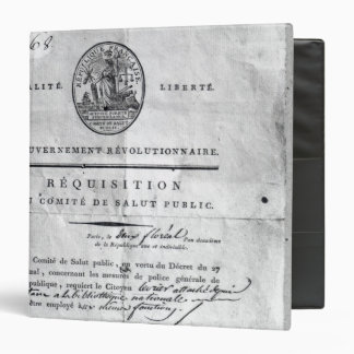 Requisition of the Committee of Public Binder
