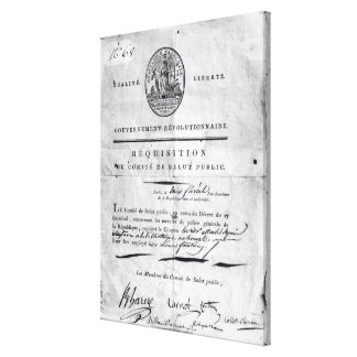 Requisition of the Committee of Public Canvas Print