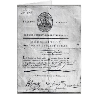 Requisition of the Committee of Public Card