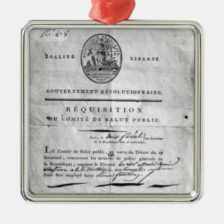 Requisition of the Committee of Public Metal Ornament