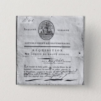 Requisition of the Committee of Public Pinback Button
