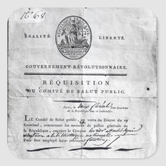 Requisition of the Committee of Public Square Sticker