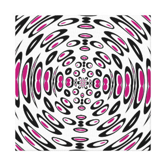 ReRetro-ed share 1 Music tunnel Canvas Print