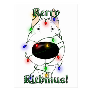 Rerry Rithmus - Bull Terrier Postcard