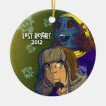 Res0rt pasado ornamento de 2012 días de fiesta - adorno navideño redondo de cerámica