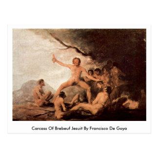 Res muerta de la jesuita de Brebeuf de Francisco D Tarjeta Postal