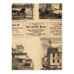 Res, oil works, bldg, Oil Creek, Rouseville Postcard