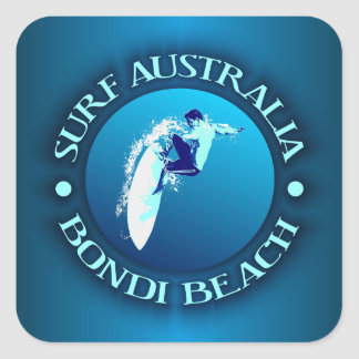 Resaca Australia (Bondi) Pegatina Cuadrada