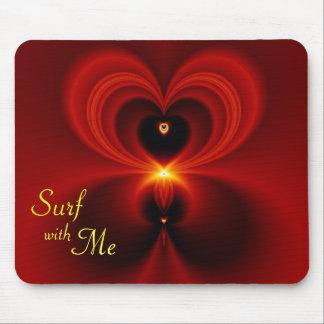 Resaca conmigo tarjeta del día de San Valentín Tapetes De Ratón